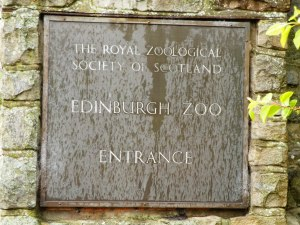 Edinburgh Zoo entrance